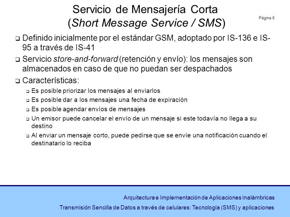 Servicio de Mensajería Corta (Short Message Service / SMS)