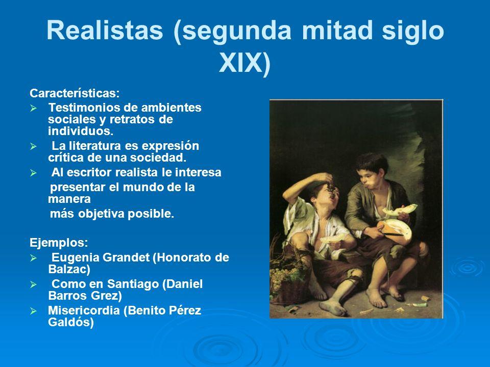 Realistas (segunda mitad siglo XIX)