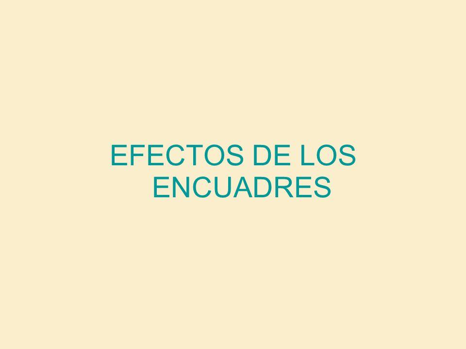 EFECTOS DE LOS ENCUADRES