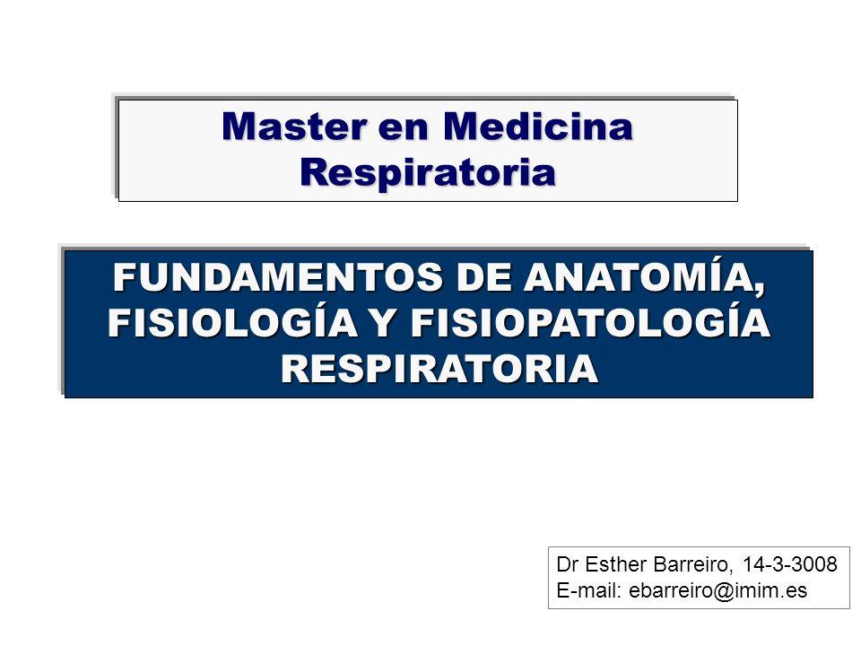 Master en Medicina Respiratoria