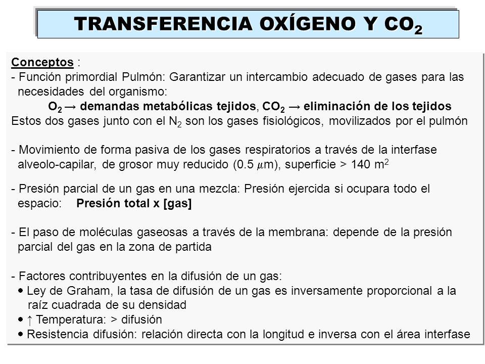TRANSFERENCIA OXÍGENO Y CO2