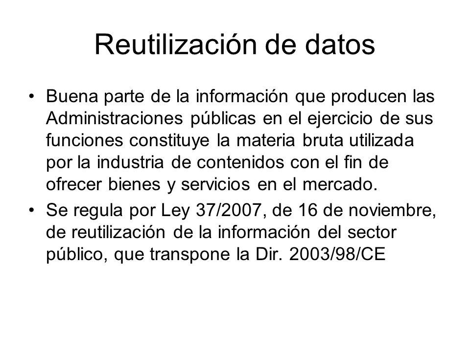 Reutilización de datos