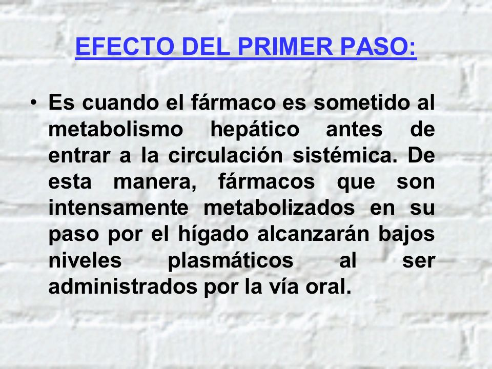 EFECTO DEL PRIMER PASO: