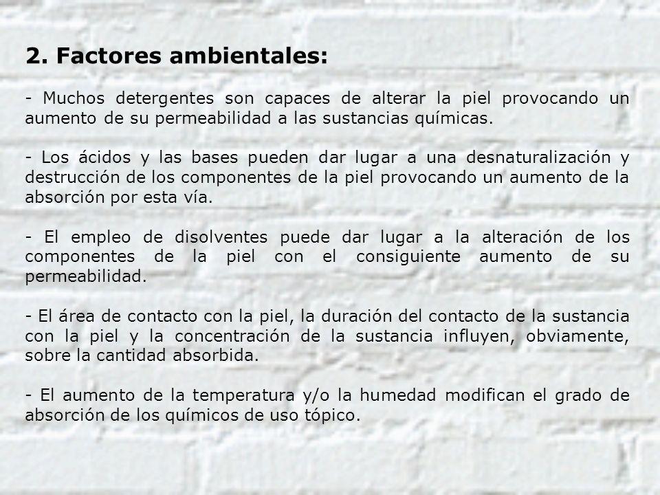 2. Factores ambientales:
