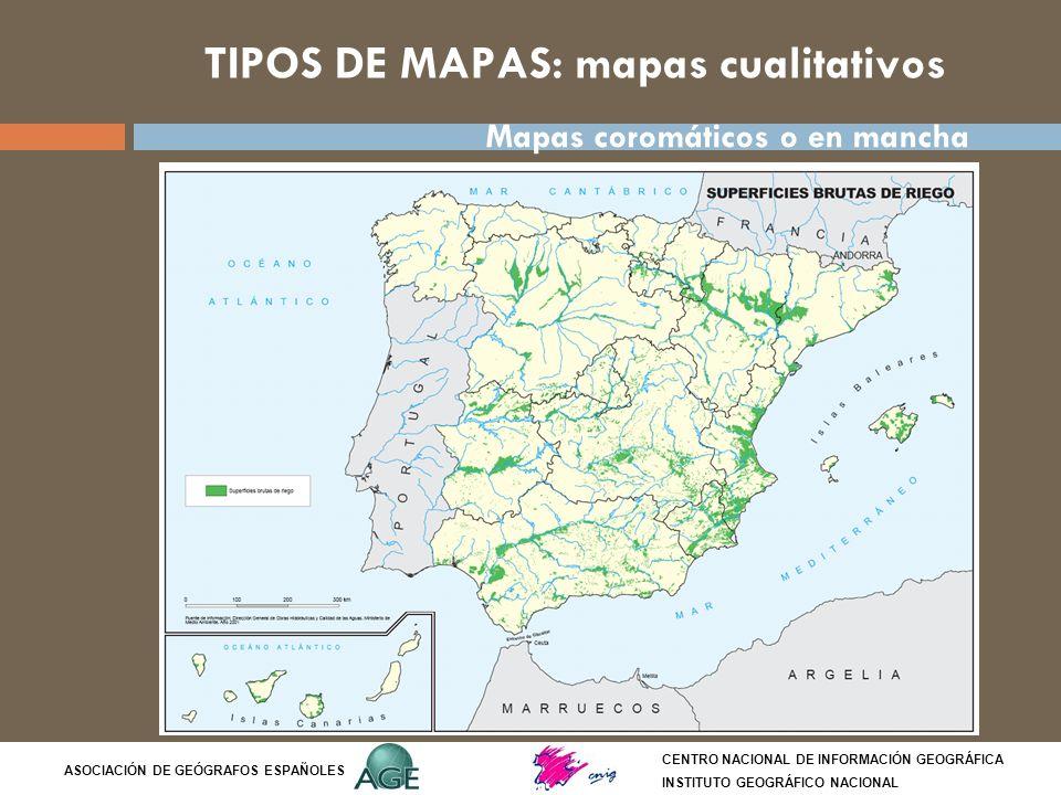 TIPOS DE MAPAS: mapas cualitativos