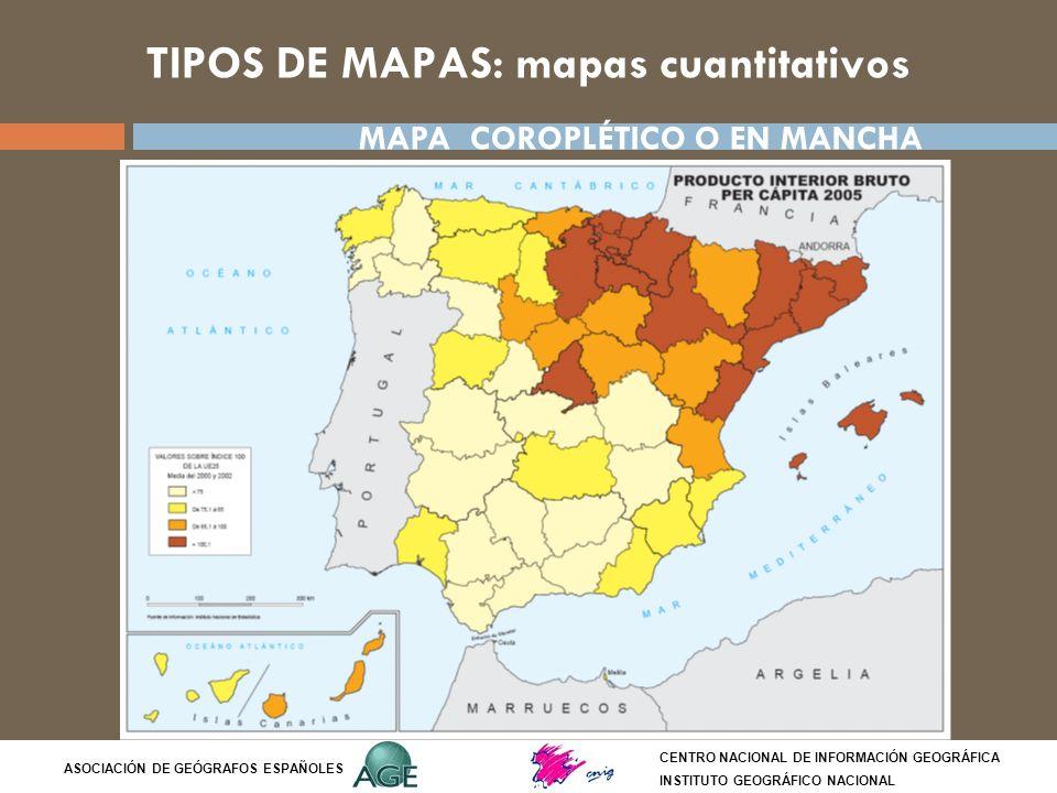 TIPOS DE MAPAS: mapas cuantitativos