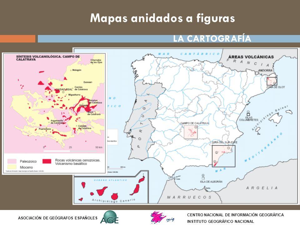 Mapas anidados a figuras