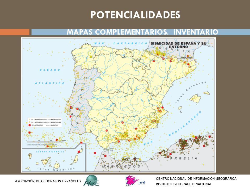 POTENCIALIDADES MAPAS COMPLEMENTARIOS. INVENTARIO Síntesis del tema: