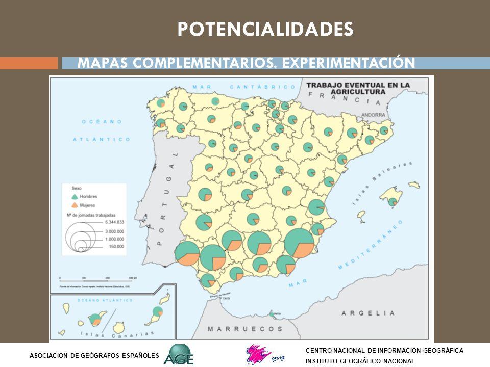 POTENCIALIDADES MAPAS COMPLEMENTARIOS. EXPERIMENTACIÓN