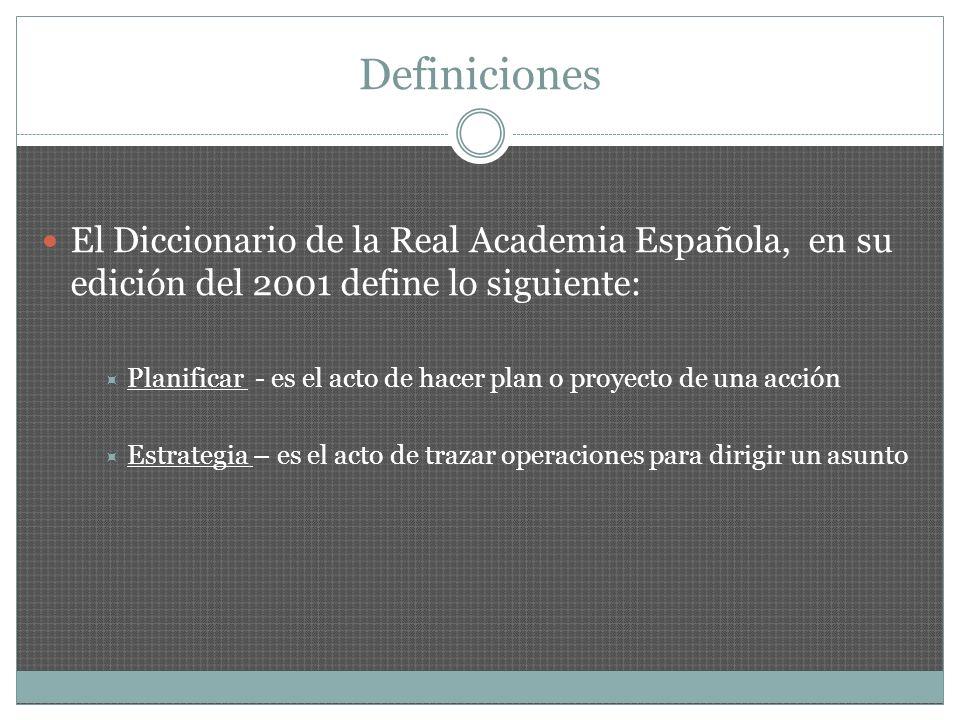 DefinicionesEl Diccionario de la Real Academia Española, en su edición del 2001 define lo siguiente: