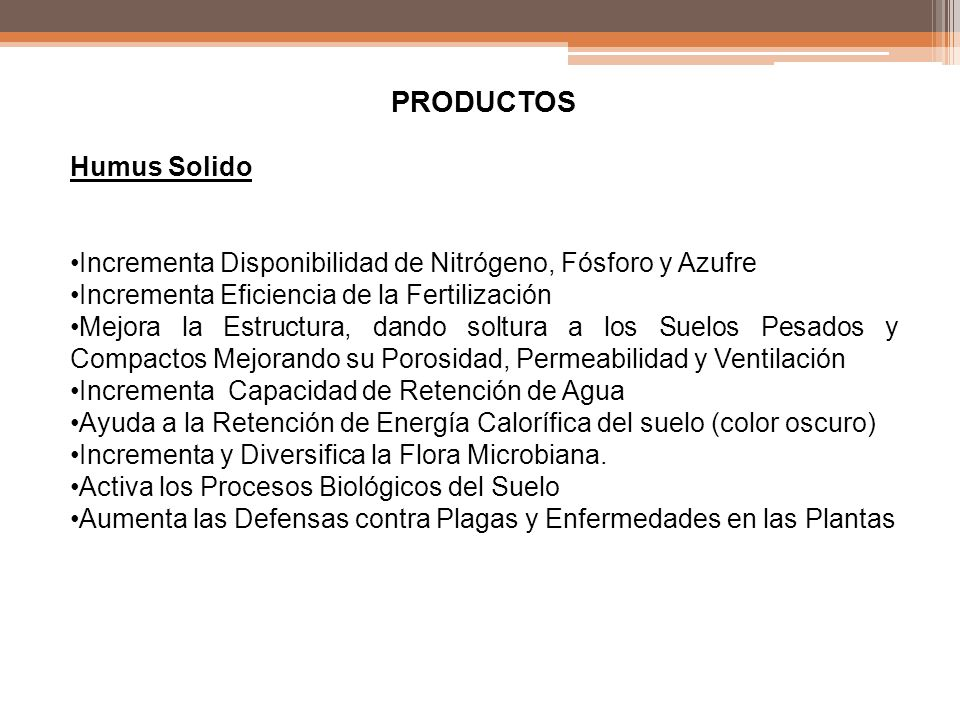PRODUCTOS Humus Solido