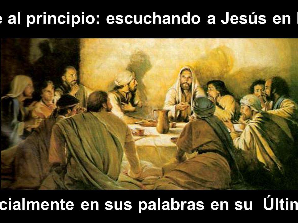 Así fue al principio: escuchando a Jesús en la mesa