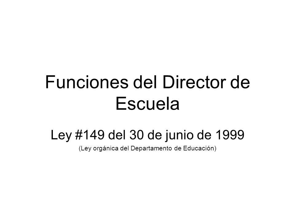Funciones del Director de Escuela