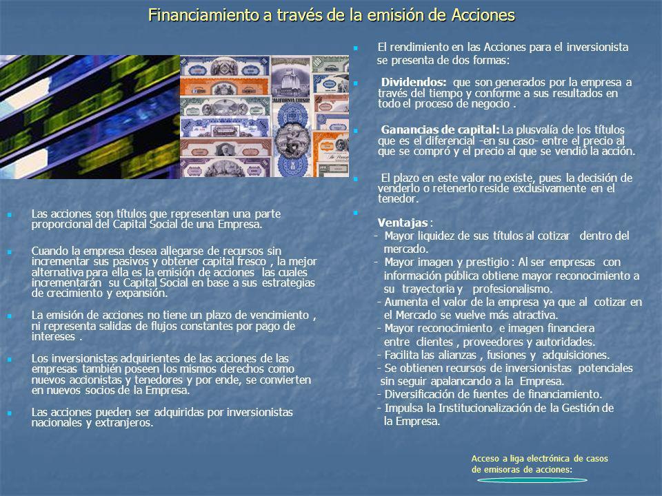 Financiamiento a través de la emisión de Acciones
