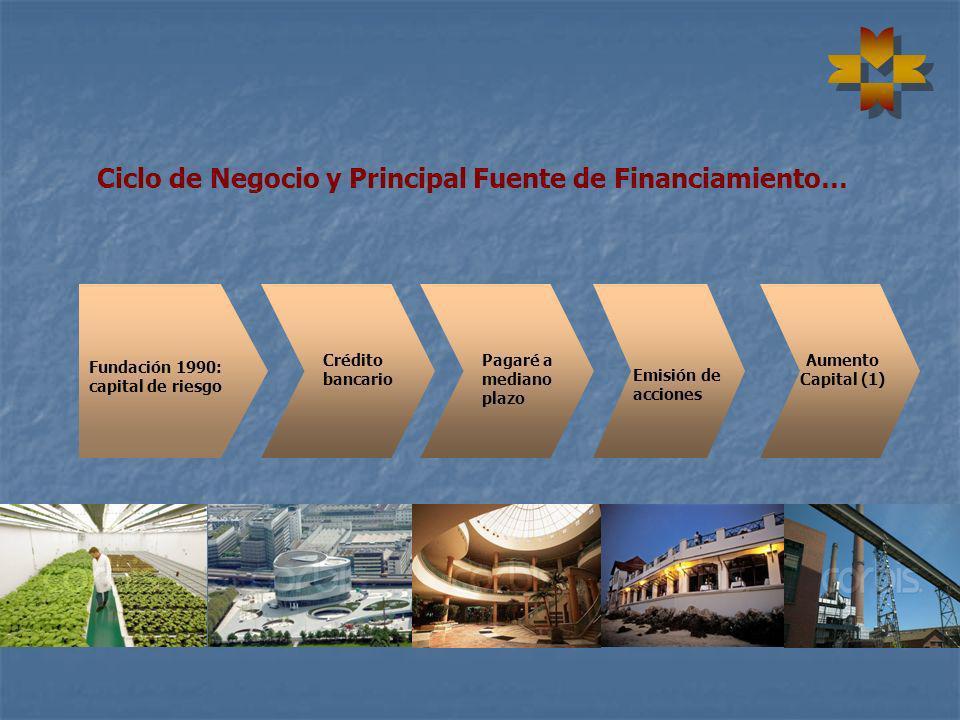 Ciclo de Negocio y Principal Fuente de Financiamiento…