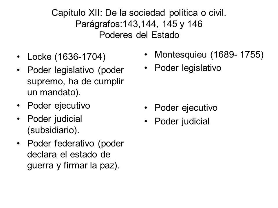 Capítulo XII: De la sociedad política o civil