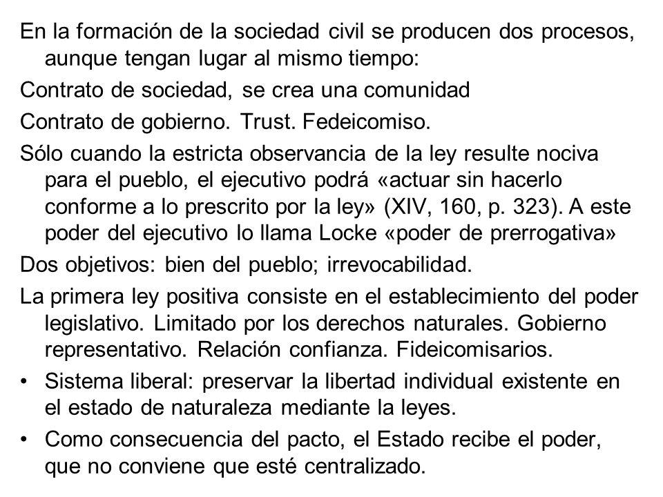 En la formación de la sociedad civil se producen dos procesos, aunque tengan lugar al mismo tiempo:
