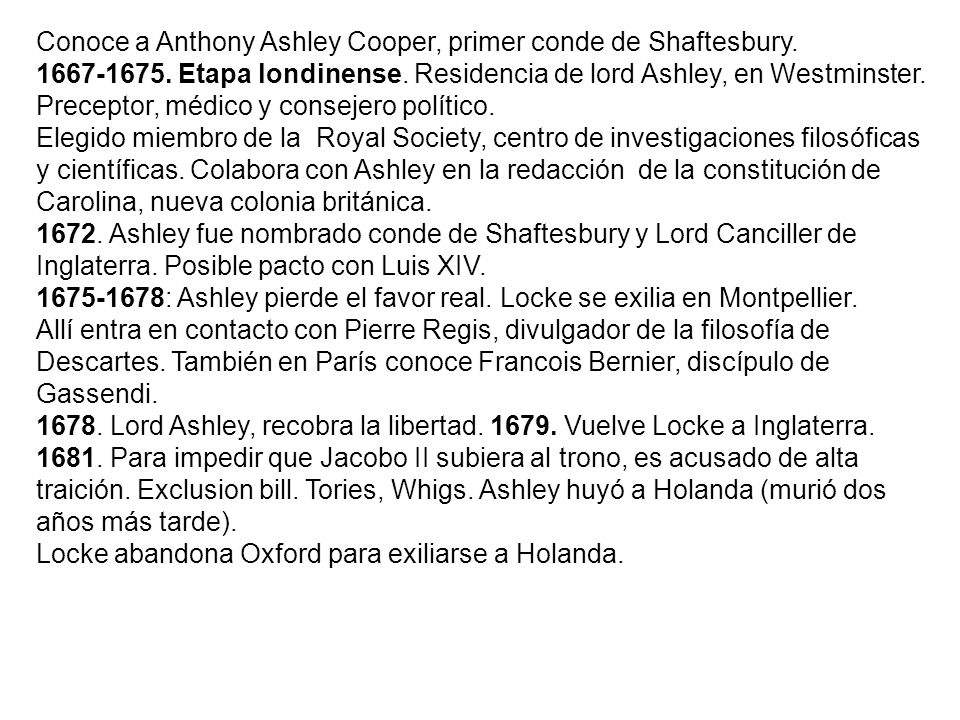 Conoce a Anthony Ashley Cooper, primer conde de Shaftesbury.
