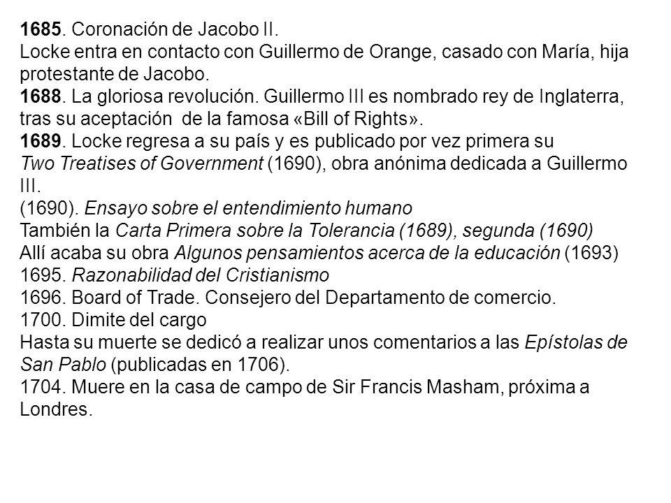 1685. Coronación de Jacobo II.