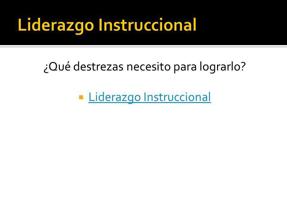 Liderazgo Instruccional