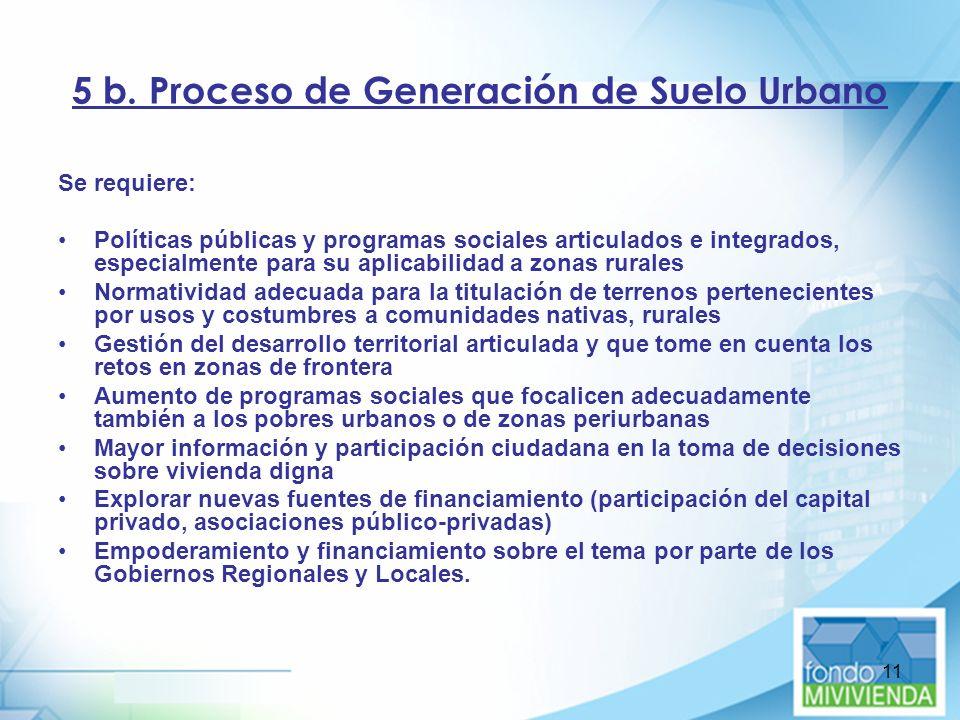 5 b. Proceso de Generación de Suelo Urbano