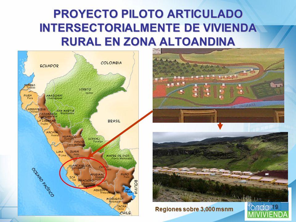 PROYECTO PILOTO ARTICULADO INTERSECTORIALMENTE DE VIVIENDA RURAL EN ZONA ALTOANDINA