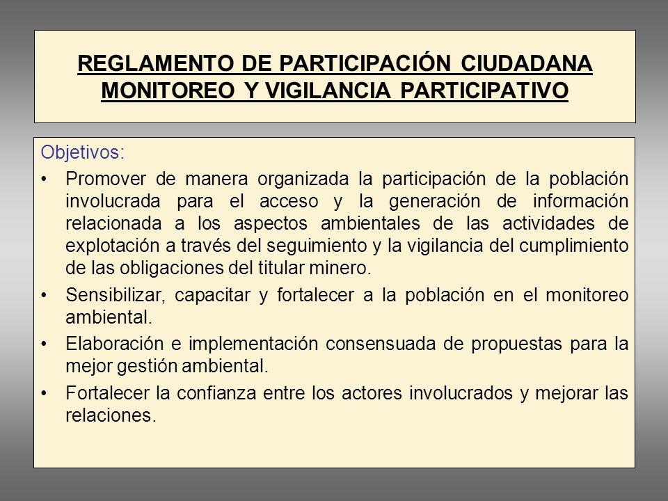 REGLAMENTO DE PARTICIPACIÓN CIUDADANA MONITOREO Y VIGILANCIA PARTICIPATIVO