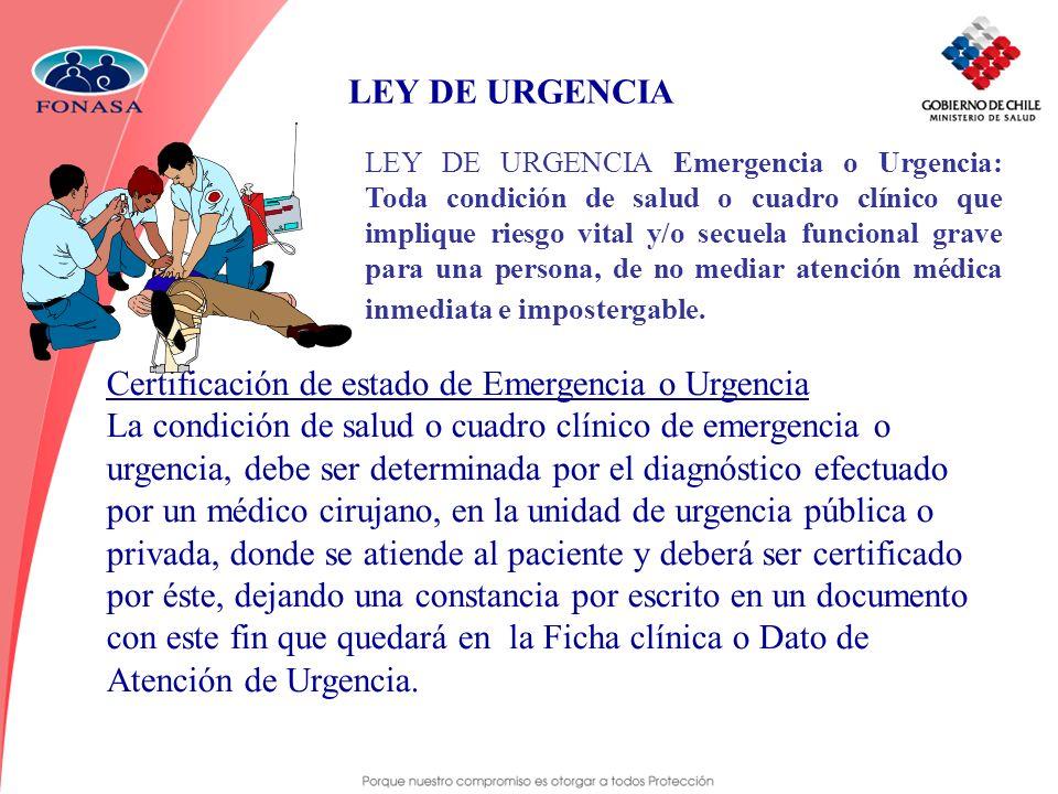 LEY DE URGENCIA