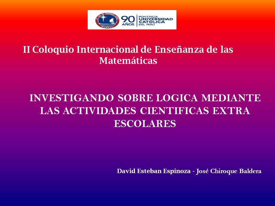 II Coloquio Internacional de Enseñanza de las Matemáticas