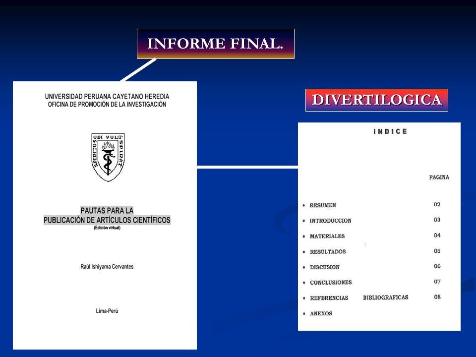 INFORME FINAL. DIVERTILOGICA