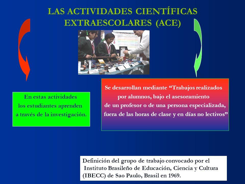 LAS ACTIVIDADES CIENTÍFICAS EXTRAESCOLARES (ACE)