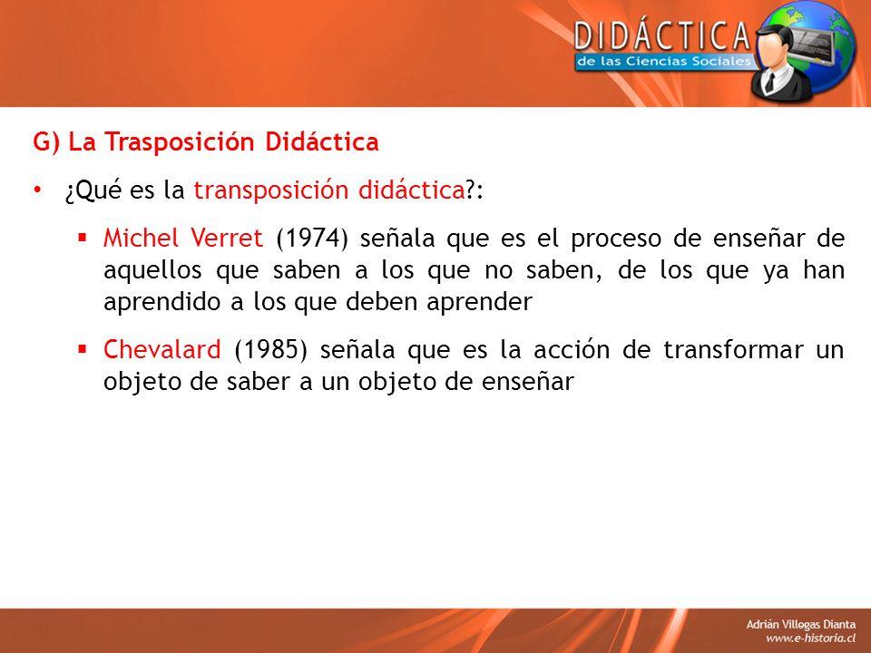 G) La Trasposición Didáctica