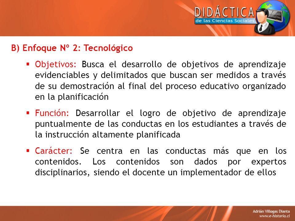 B) Enfoque Nº 2: Tecnológico
