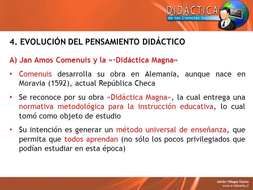 4. EVOLUCIÓN DEL PENSAMIENTO DIDÁCTICO