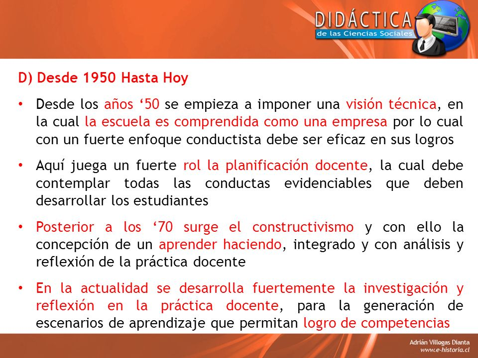 D) Desde 1950 Hasta Hoy