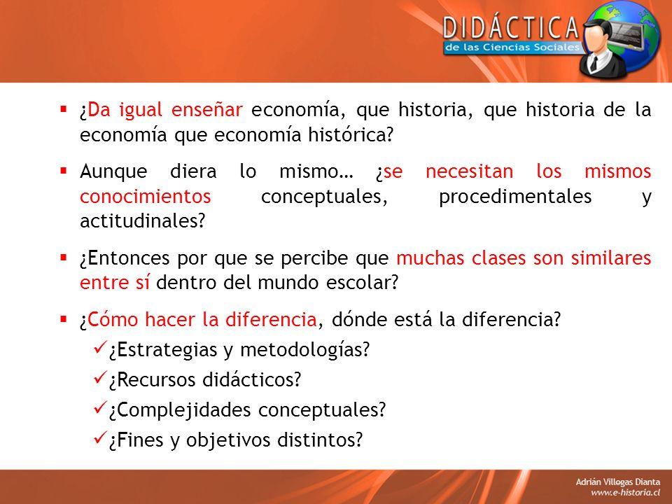 ¿Da igual enseñar economía, que historia, que historia de la economía que economía histórica