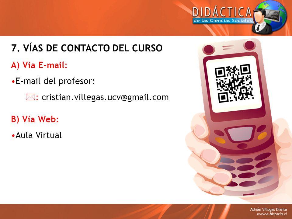 7. VÍAS DE CONTACTO DEL CURSO