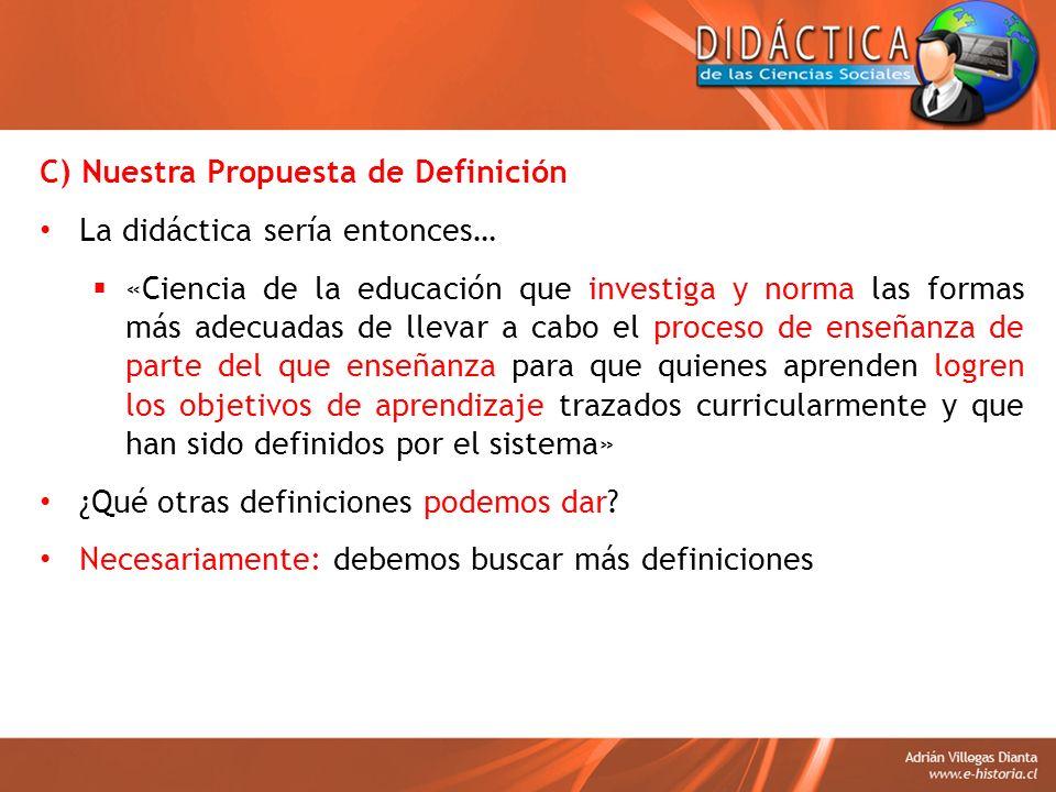 C) Nuestra Propuesta de Definición