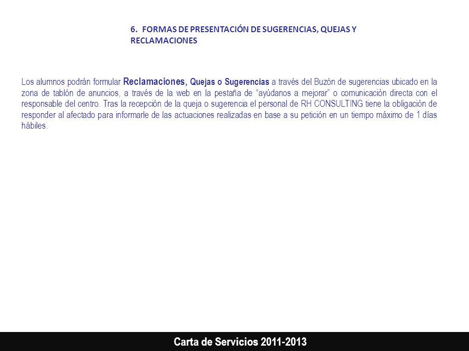 FORMAS DE PRESENTACIÓN DE SUGERENCIAS, QUEJAS Y RECLAMACIONES