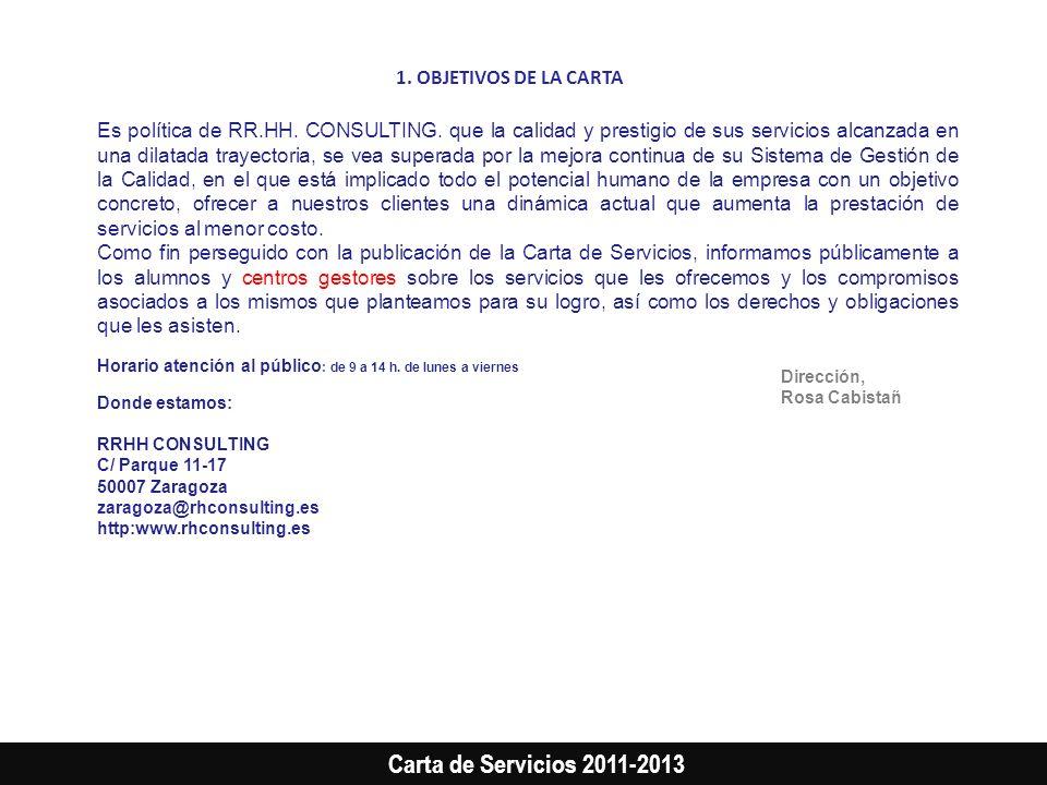 1. OBJETIVOS DE LA CARTA