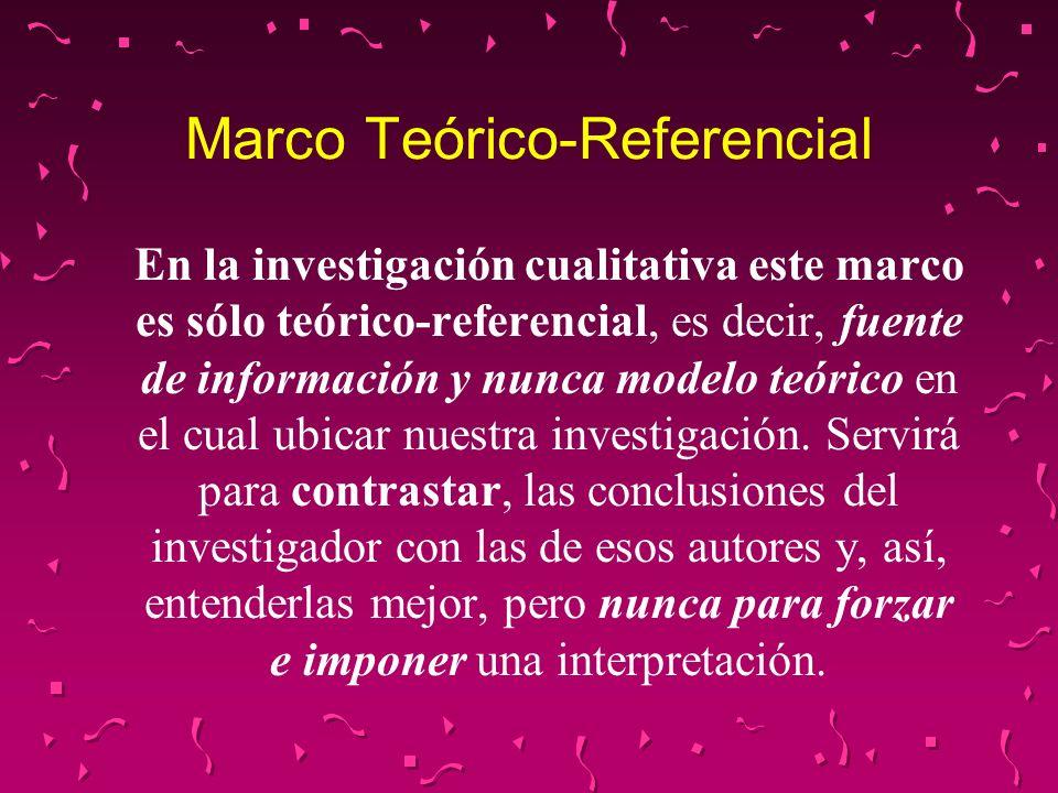 Marco Teórico-Referencial
