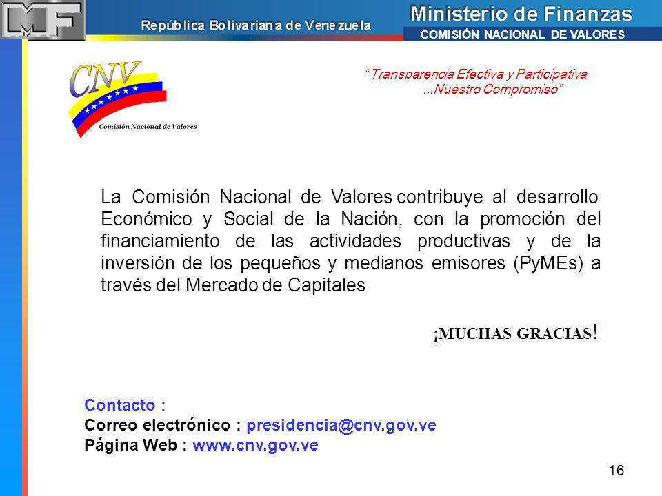 La Comisión Nacional de Valores contribuye al desarrollo
