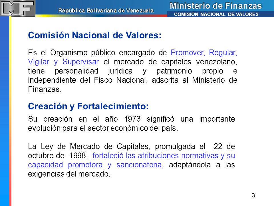 Comisión Nacional de Valores:
