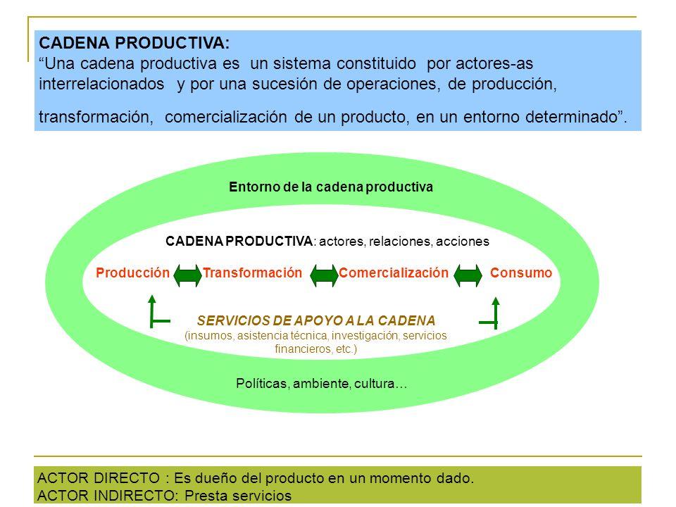 Entorno de la cadena productiva