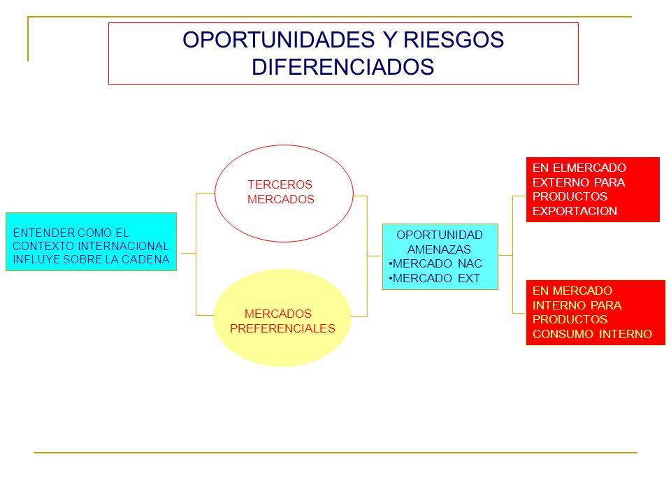 OPORTUNIDADES Y RIESGOS DIFERENCIADOS