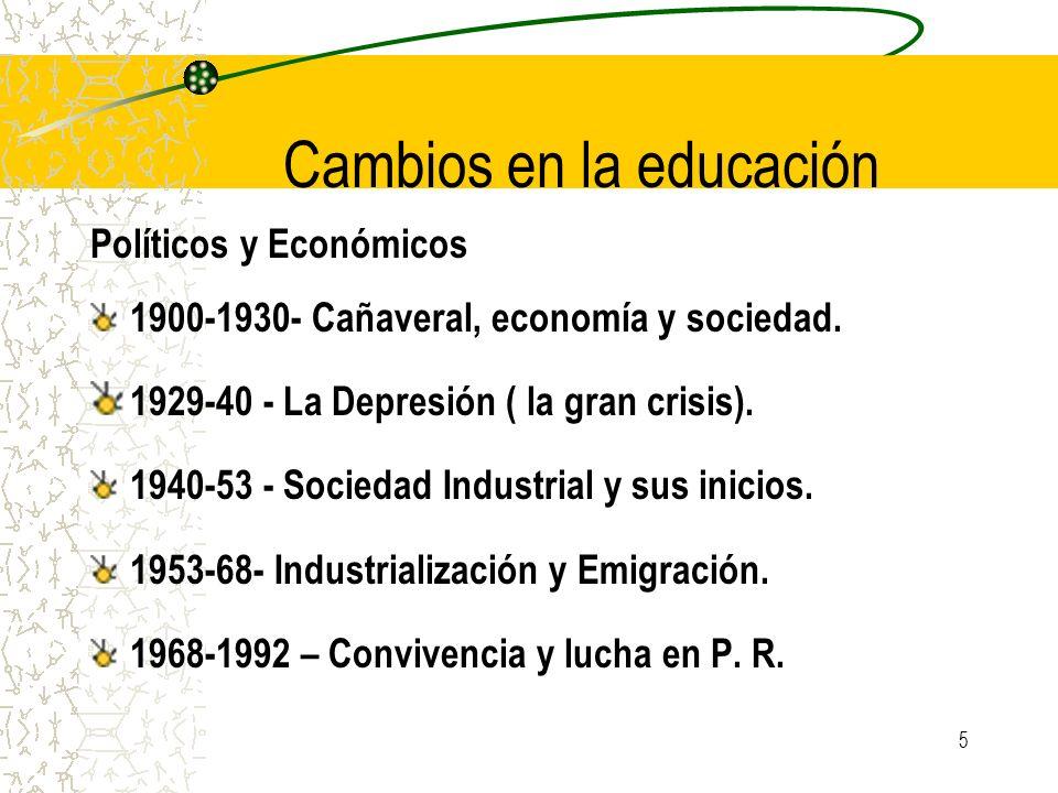 Cambios en la educación