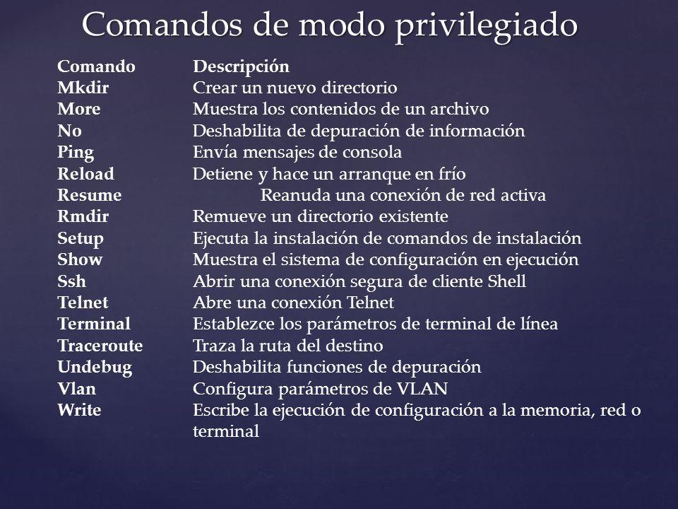 Comandos de modo privilegiado