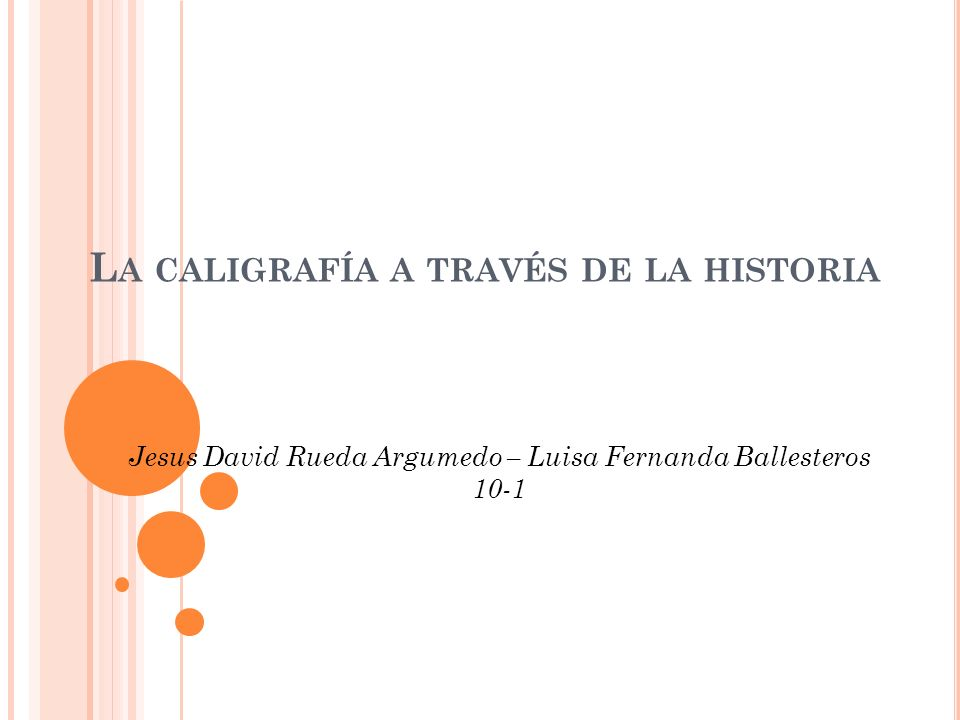La caligrafía a través de la historia