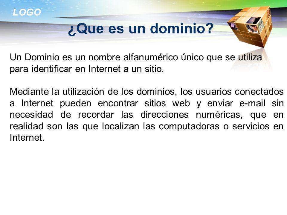 ¿Que es un dominio Un Dominio es un nombre alfanumérico único que se utiliza para identificar en Internet a un sitio.