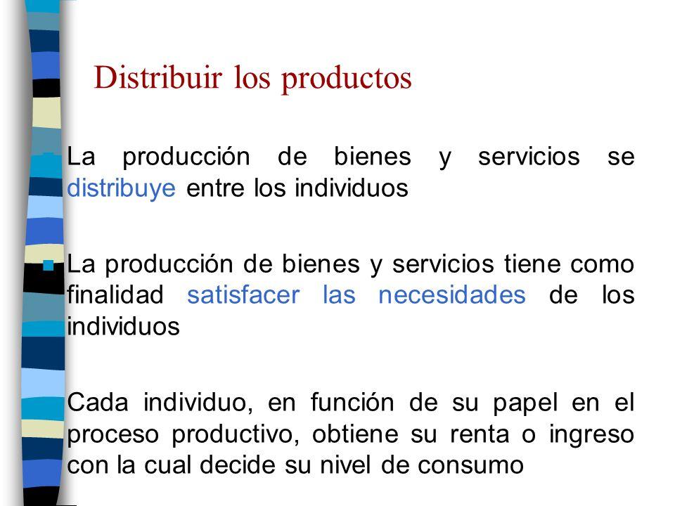 Distribuir los productos
